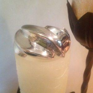Sterling silver contemporary cuff